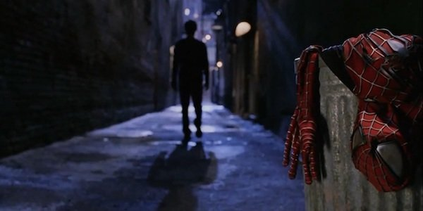 Spider-Man No More scene, Tobey Maguire and suit in Spider-Man 2