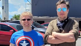 John Carmack and Elon Musk at Starbase