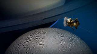 Cassini to Fly Past Enceladus