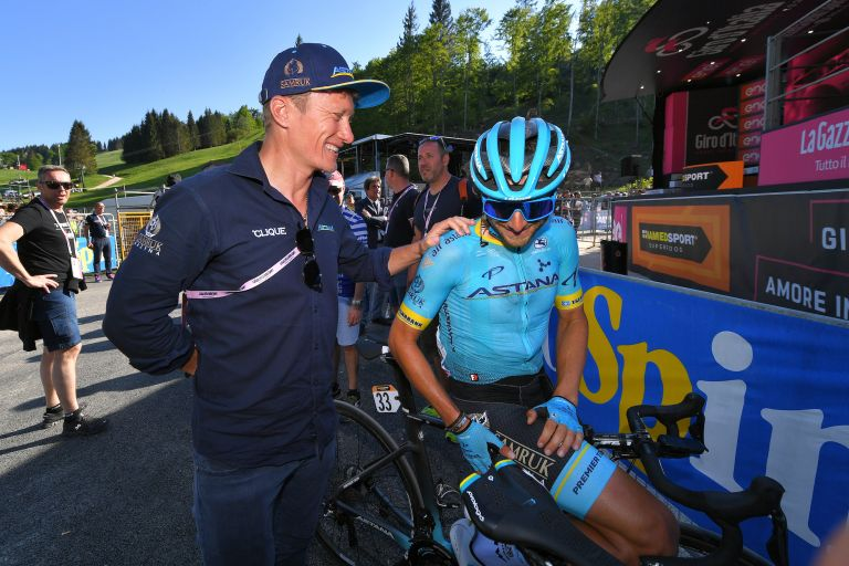 Alexandr Vinokourov at the 2019 Giro d'Italia