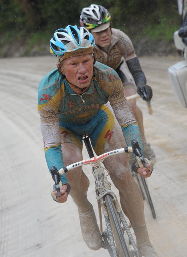 Alexandre Vinokourov, Cadel Evans, Giro d'Italia 2010, stage 7