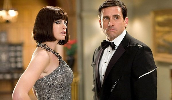 Get Smart Anne Hathaway Steve Carell Agent 99 and Max look over their shoulder