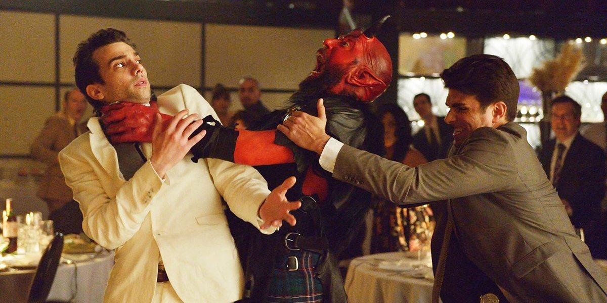 Jay Baruchel gets choked by a demon in Man Seeking Woman