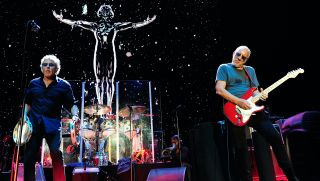 Roger Daltrey and Pete Townshend of the Who perform live at the SSE Arena Wembley on February 13, 2016 in London