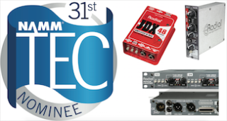 Radial and Hafler Nominated for NAMM Tec Awards