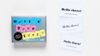 What's Your Type Box and card examples