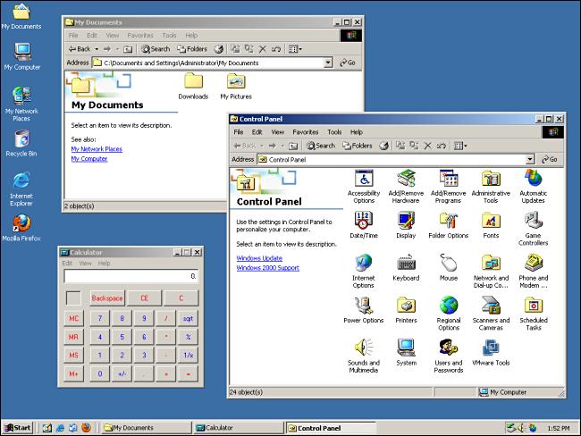 Windows 2000 desktop