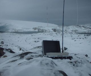 Atmospheric samples collected around the world have greatly refined estimates of growth of carbon dioxide in Earth's atmosphere. Above, a sampling station on the Antarctic Peninsula.