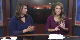 Local News Team Had To Evacuate Live On The Air Due To Wildfires