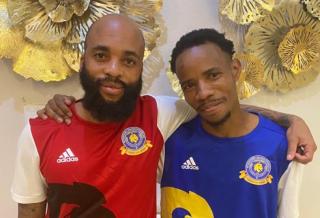Oupa Manyisa and Joseph Molangoane