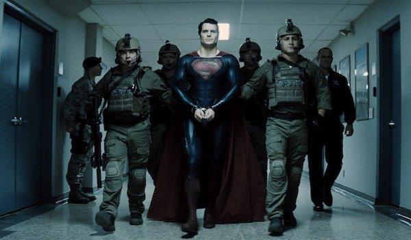 Superman in U.S. military custody in Man of Steel