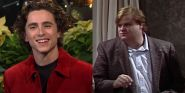 Timothee Chalamet Reveals Chris Farley Almost Spit On His Mom During An SNL Sketch