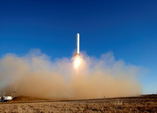 SpaceX Grasshopper Rocket Prototype Launch