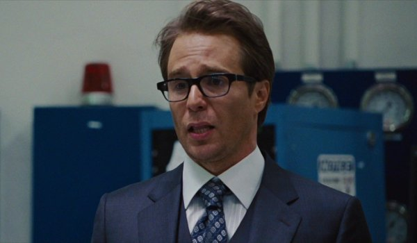 Iron Man 2 Justin Hammer worrying in front of some important equipment