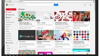 New Google Chrome bookmark manager