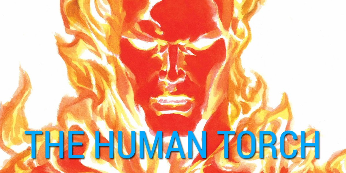 Human Torch Fantastic Four by Alex Ross