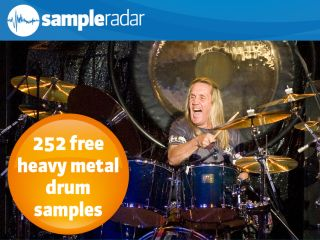 Iron Maiden drummer Nicko McBrain hits his drums hard