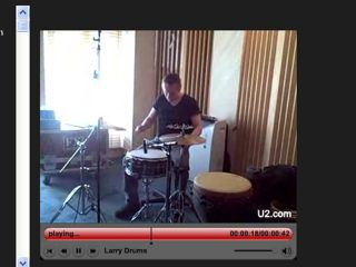 Larry Mullen on drums Like wow