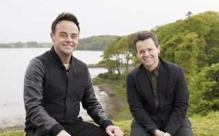 Ant and Dec posing for Ant and Dec's DNA Journey