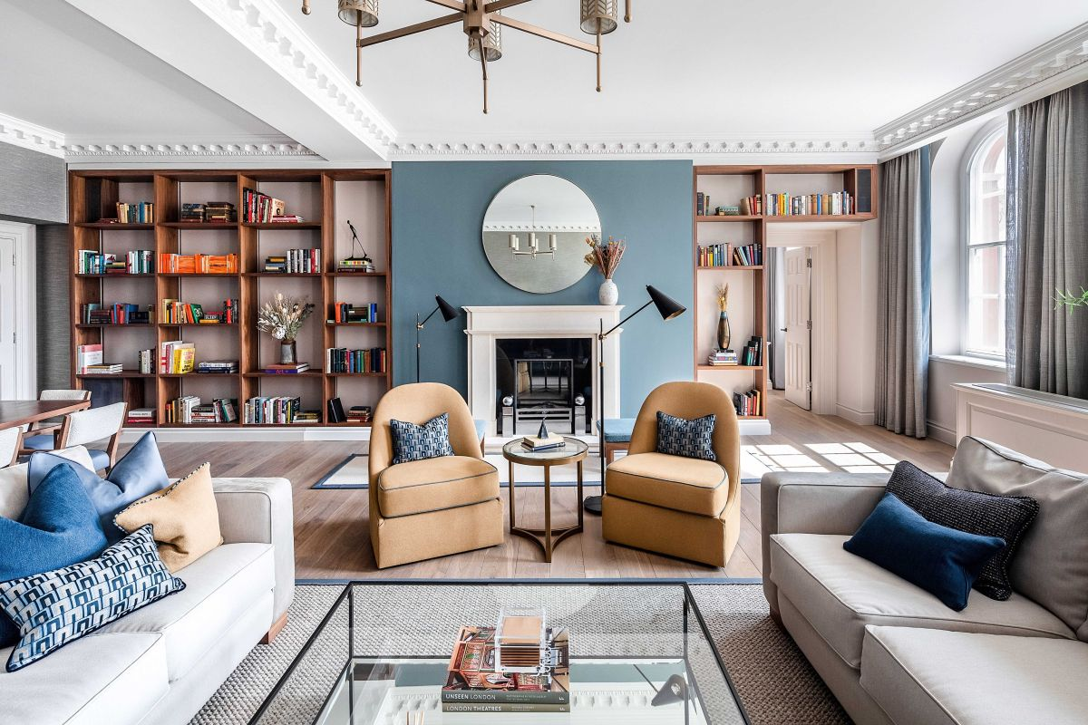 Inside a luxurious London apartment that's inspired by the iconic Covent Garden Piazza