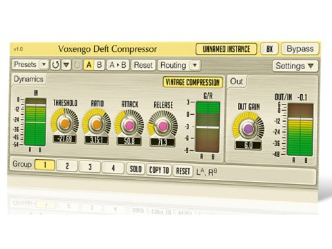 Deft Compressor retains Voxengo's standardised interface.