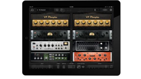 Bias FX offers a full dual-path guitar signal chain derived from models of 12 amps, 25 effects pedals and five rack processors