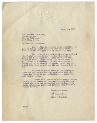 Einstein's signed letter.