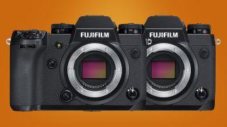 Deux appareils photo Fujifilm X-H1 côte à côte