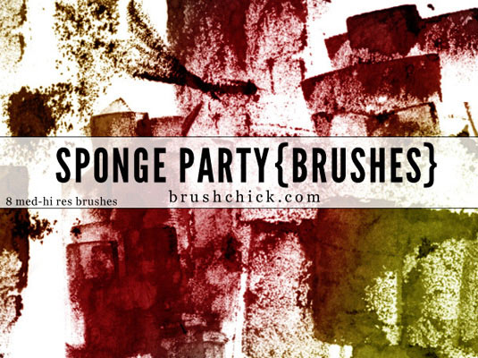 Photoshop brushes: Sponge