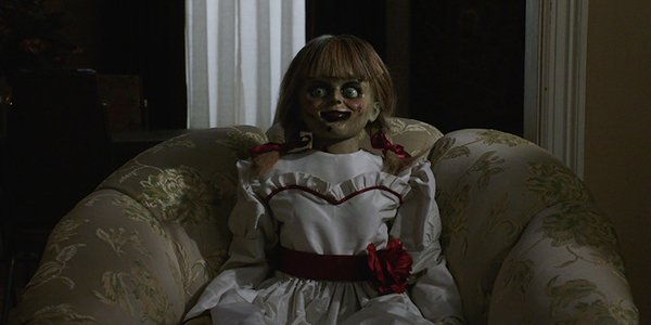 Annabelle sitting innocently, plotting evil deeds