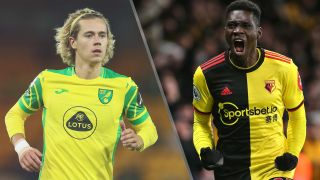 Norwich City vs Watford live stream — Todd Cantwell of Norwich City and Ismaila Sarr of Watford