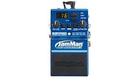 The JamMan Solo XT features stereo inputs and outputs and doubles the onboard storage slots