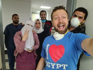 Matt Swider, an editor at Live Science sister site TechRadar, shared this image from the Egyptian hospital where he's been quarantined.