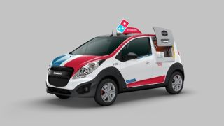 Dominos DXP delivery car