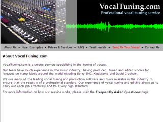 The site makes it easy to upload your out-of-tune vocals.