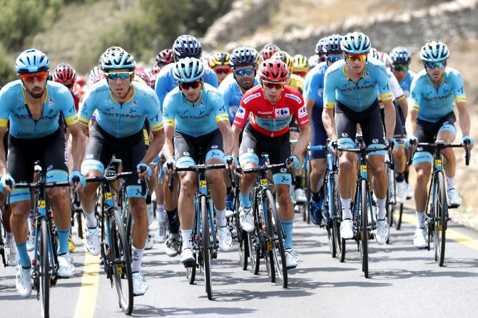 Astana shepherded Lopez all day when he lead the race