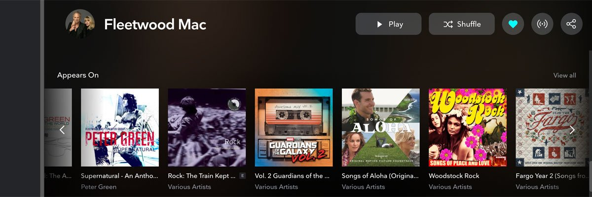 Tidal features.