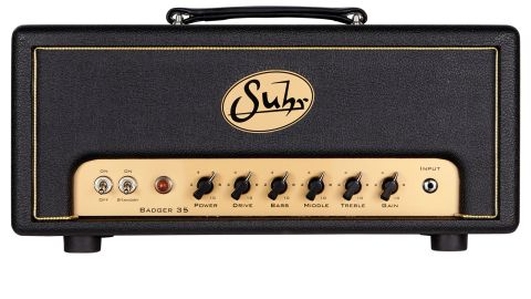 The gold Perspex badge and control panels offer a clue to the amp's sonic inspiration