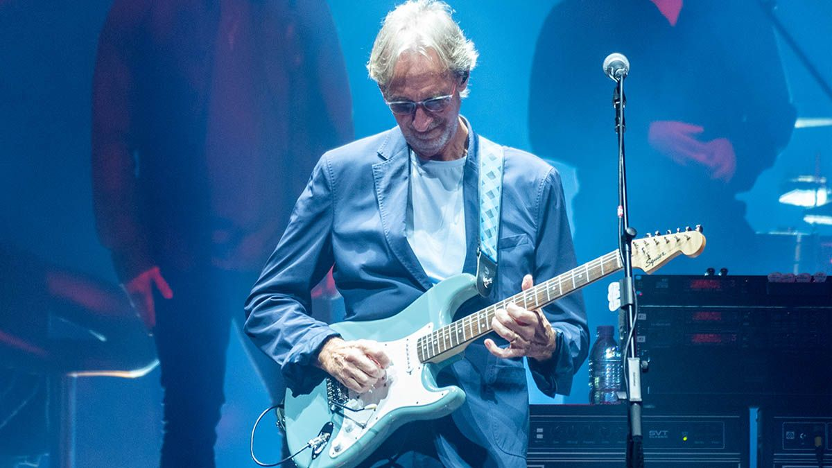 Mike Rutherford is playing entry-level Squier Bullet Strats on Genesis tour