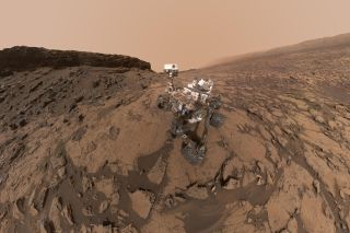 Mars Rover Curiosity at Murray Buttes