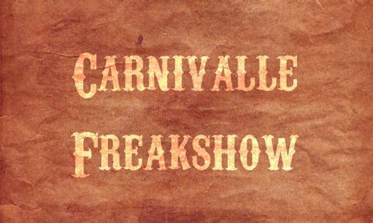 Retro fonts: Carnivalee Freakshow