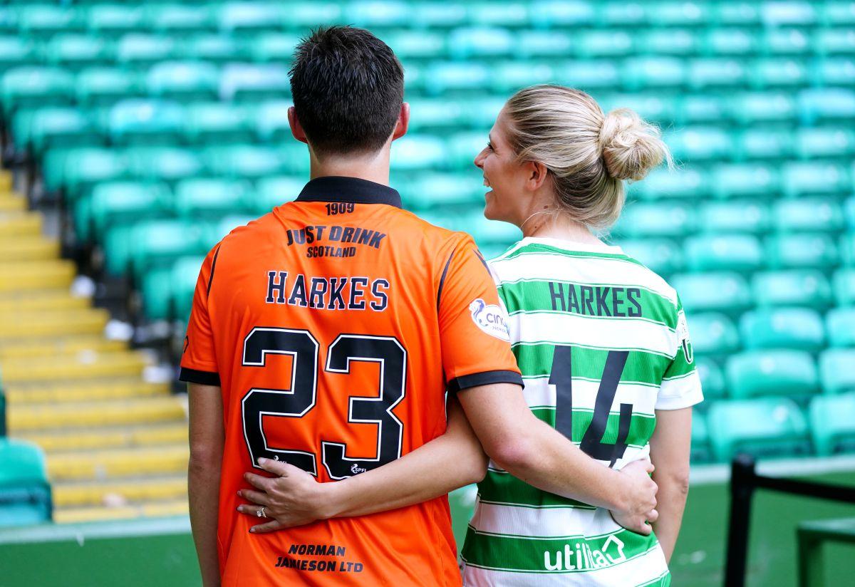 Dundee United midfielder Ian Harkes and wife Sarah score key goals hours apart