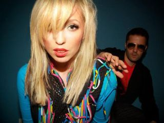 The Ting Tings: influences on sleeves just out of shot.