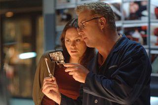 William Petersen and Jorja Fox in CSI: Vegas
