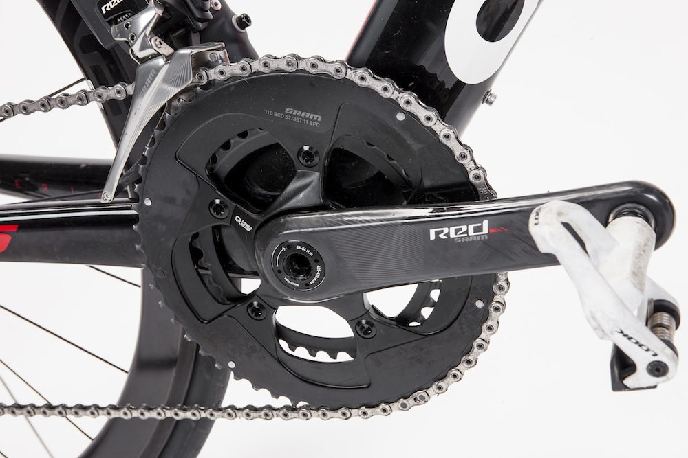 The stiffness of the bulky BBright bottom bracket has apparently been increased by 6% over the previous Cervelo S5