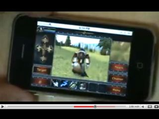 Vollee's World of Warcraft service on an iPhone