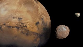 Mars, Phobos and Deimos