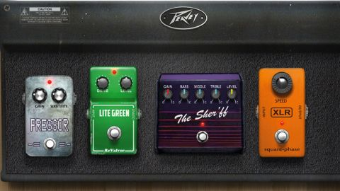 Now you get a nice virtual pedalboard to drag stompboxes onto