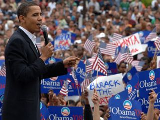 Obama rocks the crowd