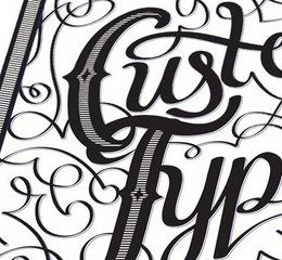 Use the Calligraphic Brush tool to create decorative type